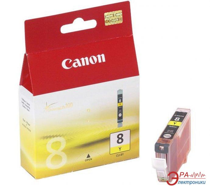 Картридж Canon CLI-8Y (0623B024) (iP4300/ 4500/ 5300/ 6700D, iX4000/ 5000, MP500/ 530/ 800/ 830, Pro9000) Yellow