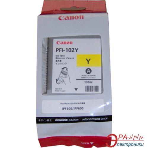 Картридж Canon PFI-102Y (0898B001) (iPF500, iPF600, iPF700) Yellow