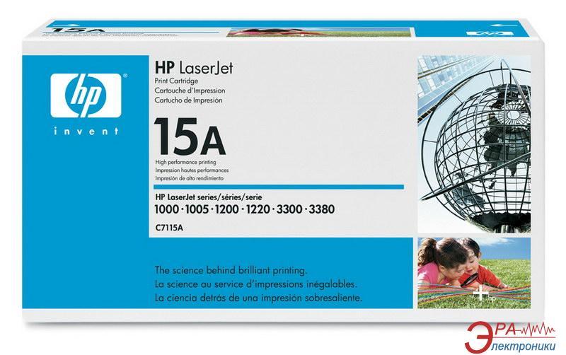 Картридж HP (C7115A) HP LaserJet 1000, HP LaserJet 1005, HP LaserJet 1200, HP LaserJet 1220, HP LaserJet 3300, HP LaserJet 3310, HP LaserJet 3320, HP LaserJet 3330, HP LaserJet 3380 Black