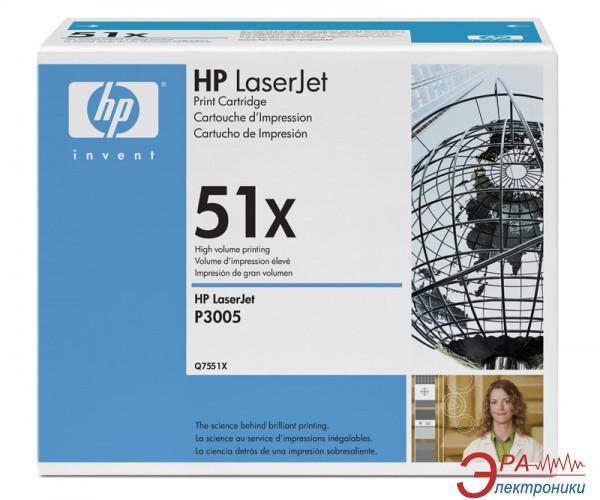 Картридж HP 51X (max) (Q7551X) (HP LaserJet M3027, HP LaserJet M3035, HP LaserJet P3005) Black