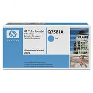 Картридж HP (Q7581A) HP Color LaserJet 3800, HP Color LaserJet CP3505 Cyan