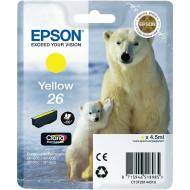 Картридж Epson (C13T26144010) (XP-600/605/700) Yellow