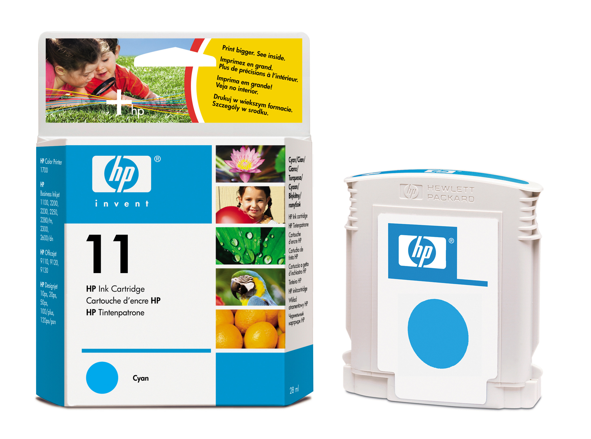 Картридж HP (C4836A) business inkjet 1000/1100d/1100dtn/1200/2200/2230/2250/2280/2300/2500/2600/2800, cp1700, DesignJet 10ps/20ps, DesignJet 70/100/110plus/111, OfficeJet 9110/9120/9130, OfficeJet Pro K850 series Cyan