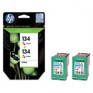 Картридж HP (C9505HE) 2-pack DeskJet 460/5743/5943/6543/6623/6843/6943/6983/9803, Photosmart 325/335/375/385/420/475, Photosmart 8053/8153/8453/8753/B8353/D5063, PSC 1613/2353/2573/2613/2713, OfficeJet 6213/7213/7313/7413 Color (C, M, Y)
