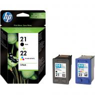 �������� ��������� ���������� HP No.21/ 22 (SD367AE) (DJ3920/3940, PSC1410) Bundle (C, M, Y, Bk)