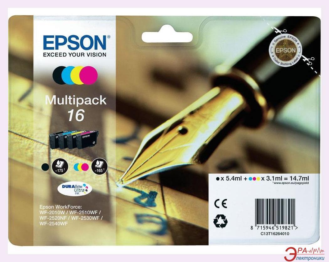 Картридж Epson 16 (C13T16264010) (WF-2010) Bundle (C, M, Y, Bk)