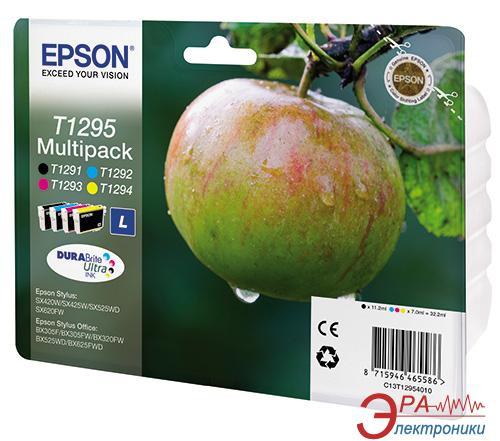 Картридж Epson (C13T12954010) (Epson Stylus: SX420/SX425/SX525/B42, Epson Stylus: Office BX305F/BX625) Large Bundle (C, M, Y, Bk)