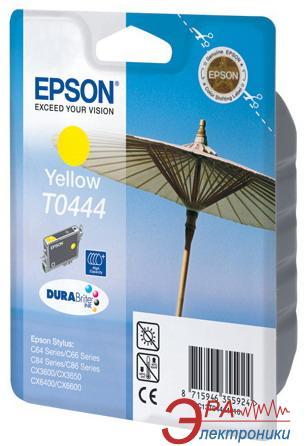 Картридж Epson (C13T04444010) (Stylus C84/C84PE/C86/C86PE, CX6400/6600) Yellow