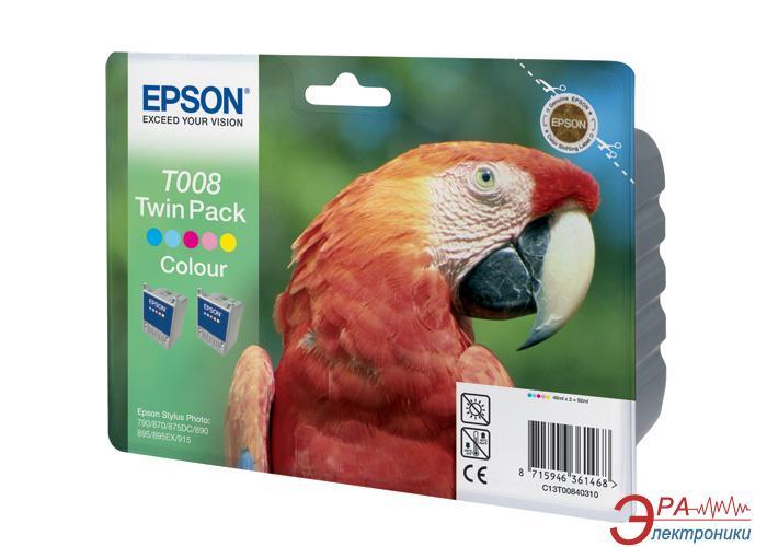 Картридж Epson (C13T00840310) double (Stylus Photo 790/870/875DC/890/895/915) Color (C, M, Y)