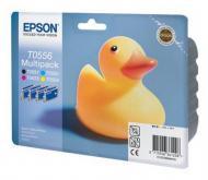 Картридж Epson (C13T05564010) (StPhoto R240/RX520) Bundle (C, M, Y, Bk)
