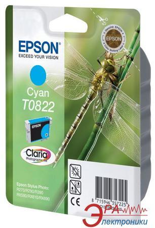 Картридж Epson (C13T08224A10) (Stylus Photo R270/R290/R390/RX590/RX610/RX690/TX700W) Cyan