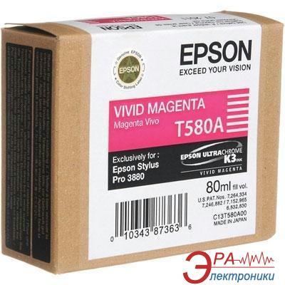 Картридж Epson (C13T580A00) (Stylus Pro 3880) vivid magenta