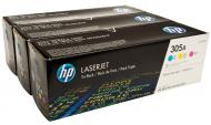 Картридж HP 305A (CF370AM) Bundle (C, M, Y)