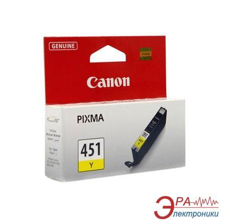 Картридж Canon CLI-451Y (6526B001) (PIXMA iP7240/ MG5240/ MG5540/ MG6340/ MG6440/ MG7140/ MX924) Yellow