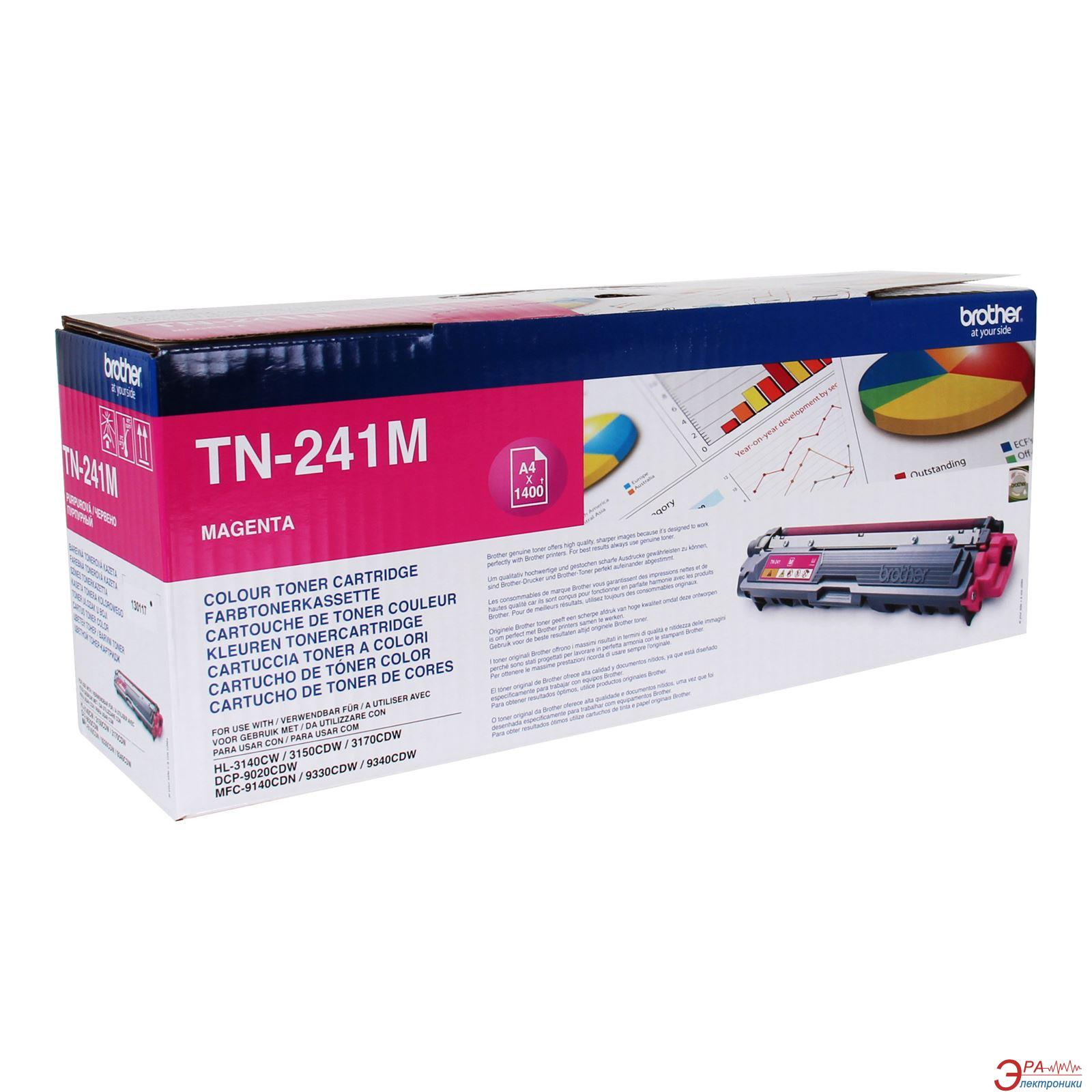 Картридж Brother TN241M (TN241M) (DCP-9020CDW, HL-3140CW) Magenta