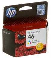Картридж HP No.46 (CZ638AE) (DJ Ink Advantage 2020hc/2520hc) Color (C, M, Y)
