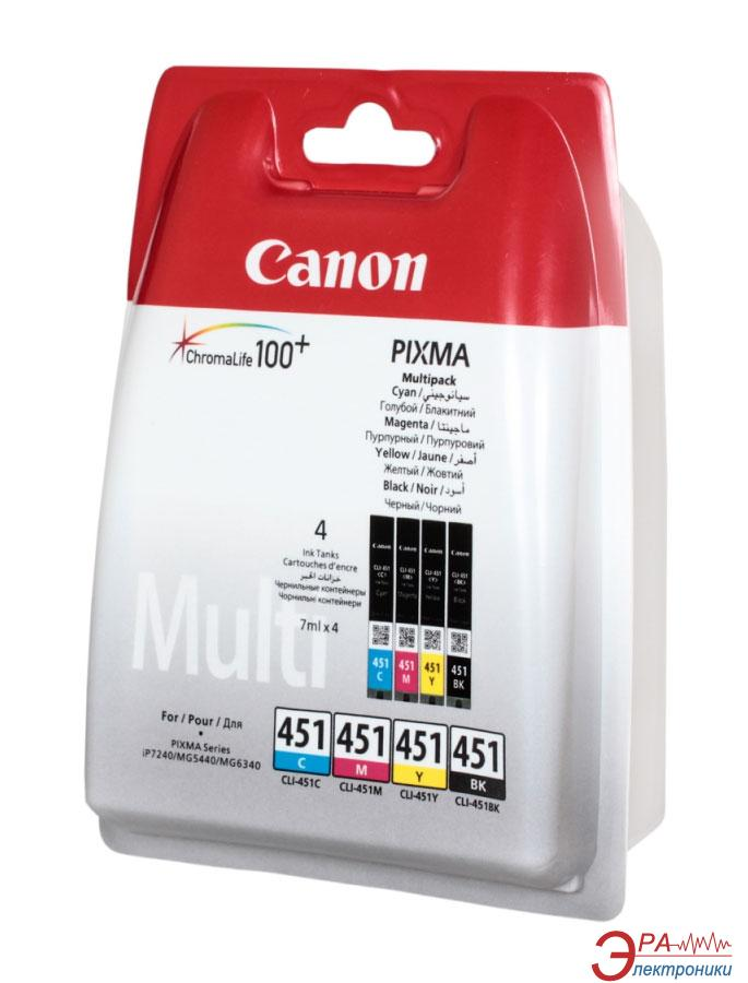 Картридж Canon CLI-451 (6524B004) (PIXMA iP7240/ MG5240/ MG5540/ MG6340/ MG6440/ MG7140/ MX924) Bundle (C, M, Y, Bk)