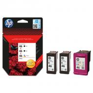 Картридж HP No.46 Ultra Ink Advantage 3-Pack 2 x Black+1 x Tri-Color (F6T40AE) (DJ Ink Advantage 2020hc/ 2520hc) Bundle (C, M, Y, Bk)