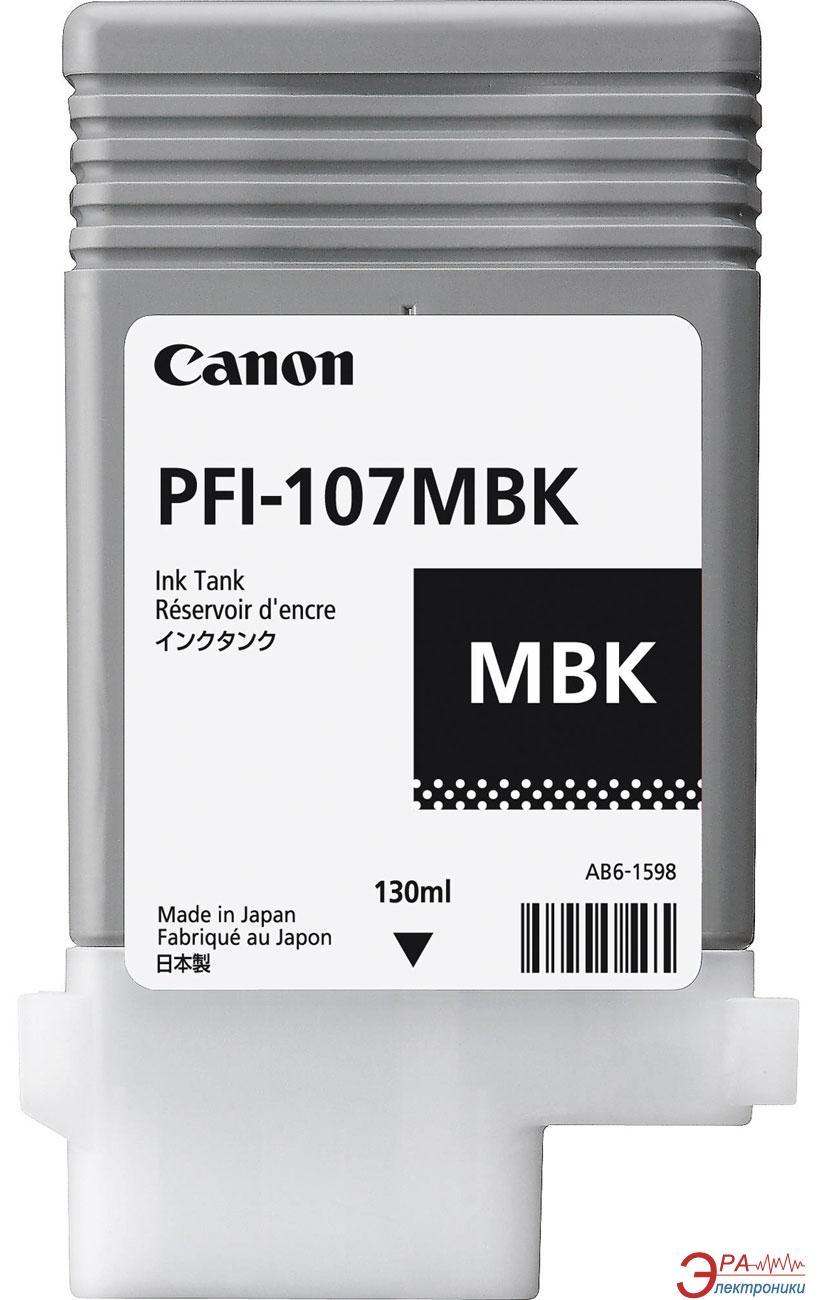 Картридж Canon PFI-107MBK 130 ml (6704B001) (iPF680, iPF685, iPF780, iPF785) matte black