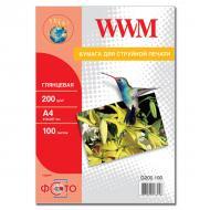 Бумага для фотопринтера WWM (G200.100)