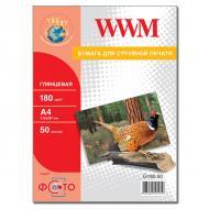 Бумага для фотопринтера WWM (G180.50)