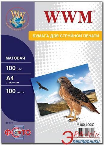 Бумага для фотопринтера WWM (M100.100)