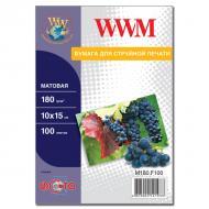 Бумага для фотопринтера WWM (M180.F100)