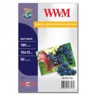 Бумага для фотопринтера WWM (M180.F50)
