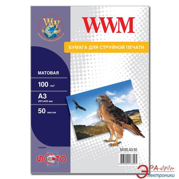 Бумага для фотопринтера WWM (M100.A3.50)