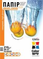 Бумага для фотопринтера ColorWay ПГ210-20 (PG210020A4)
