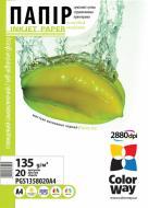 Бумага для фотопринтера ColorWay ПCГ135-20 (PGS1358020A4)