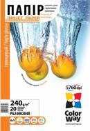 Бумага для фотопринтера ColorWay ПГ240-20 (PG2400204R)