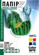 Бумага для фотопринтера ColorWay ПГД220-20 (PGD220020A4)