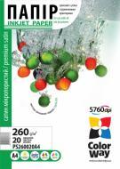 Бумага для фотопринтера ColorWay ПC260-20 (PS260020A4)