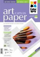 Бумага для фотопринтера ColorWay ART Canvas ПГП380-5 (PCN380005A4)