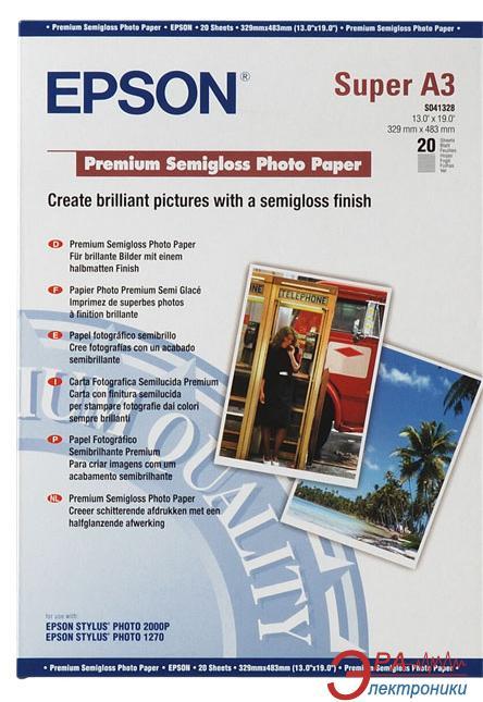 Бумага для фотопринтера Epson Premium Semigloss Photo Paper (C13S041328)