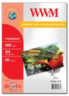 Бумага для фотопринтера WWM (G260N.20)