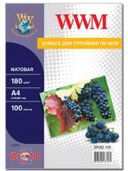 Бумага для фотопринтера WWM (M180.100)