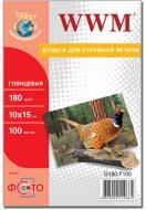 Бумага для фотопринтера WWM (G180.F100)