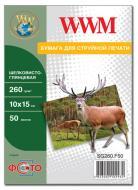 Бумага для фотопринтера WWM (SG260.F50)