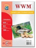Бумага для фотопринтера WWM (G225.100)