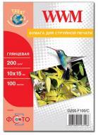 Бумага для фотопринтера WWM (G200.F100)