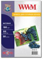 Бумага для фотопринтера WWM (M180.50)