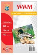 Бумага для фотопринтера WWM (G225.P100)