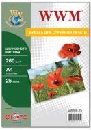 Бумага для фотопринтера WWM (SM260.A4.25)