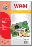 Бумага для фотопринтера WWM (G225.20)
