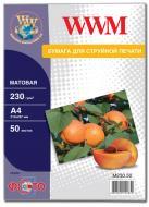 Бумага для фотопринтера WWM (M230.50)