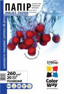 Бумага для фотопринтера ColorWay ПШГ260-20 (PSI2600204R)