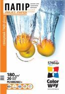 Бумага для фотопринтера ColorWay ПГ180-20 (PG180020A3+)