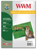 Бумага для фотопринтера WWM (L260.20/C)